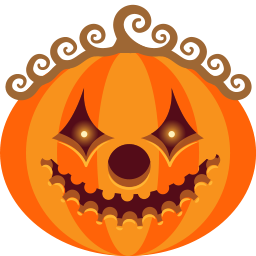 Monster Jack O Lantern Halloween Scary Clown Spooky Pumpkin Icon