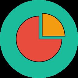 Analytics Chart Keynote Cake Icon