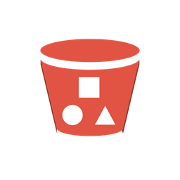 Amazon Delivery Bucket S3 Content Objects With Storage Icon