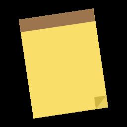 Yellow Brown Note Shading Notepad Memo Pad Icon