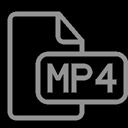 Mp4 File Document Icon