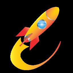 Business Conversion Seo Website Traffic Internet Transportation Marketing Rocket Communication Delivery Icon