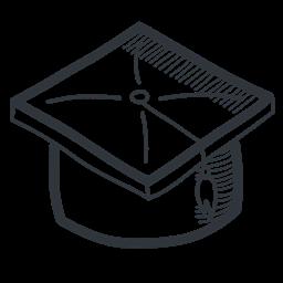 Academy Cap Learning Teach School Student University Education Knowledge Handdrawn Academic Teaching Graduation Graduate Icon