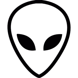 Ufo Mistery Science Fiction Space Extraterrestrial Face Icon