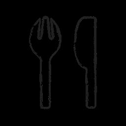 Spoon Folk Table Kitchen Tools Icon