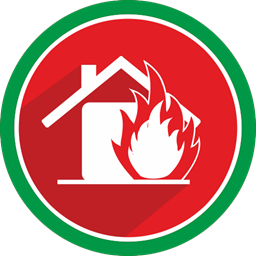 Emergency Fire House Flame Icon