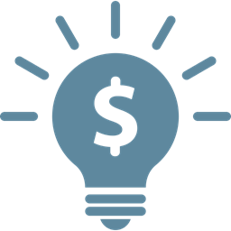 Business Light Idea Bulb Marketing Solution Money Icon
