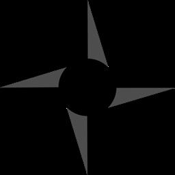 Ninja Star Samurai Shuriken Icon