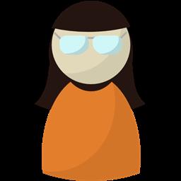Woman Secretary Profile Person User Worker Icon