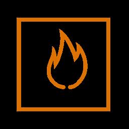 Element Square Fire Icon