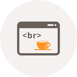 Html Coding Break Code Coffee Cup Window Coffee Icon
