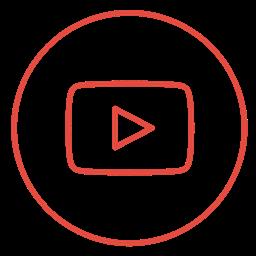 Social Video Line Media Neon Youtube Movie Icon