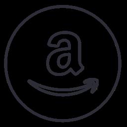 Line Ecommerce Amazon Neon Circle Shop Social Icon