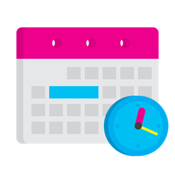Strategy Plan Manage Calendat Clock Schedule Time Icon