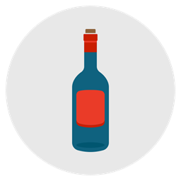 Wine Drink Alcohol Empty Bottle Icon