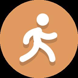 Person Running Walking Icon