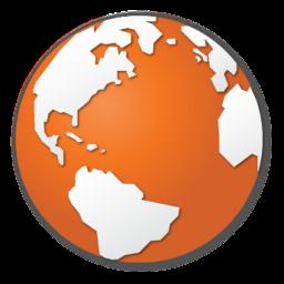 Orange Red Planet World Earth Globe Internet Icon