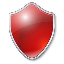 Protection Red Shield Guard Security Antivirus Protect Icon