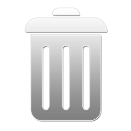 Empty Recycle Bin Closed Trash Blank Icon