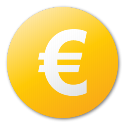 Euro Cash Currency Money Yellow Coin Icon
