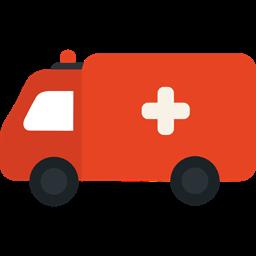 Automobile Medical Transport Ambulance Vehicle Emergency Icon