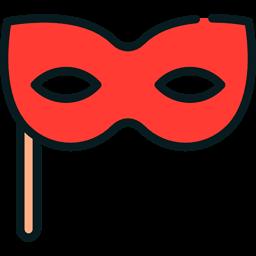 Celebration Fun Costume Party Carnival Eye Mask Icon