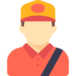 Delivery Man Occupation Avatar Courier Profession People Job Driver Icon