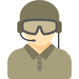 man profession soldier military avatar people army
