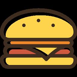 Burger Food Hamburger Sandwich Fast Food Junk Food Icon