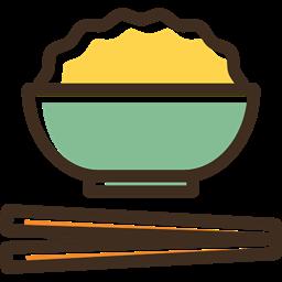 Chinese Food Japanese Food Bowl Food Chopsticks Rice Icon