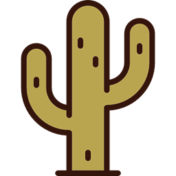 Cactus Nature Western Dry Plant Icon