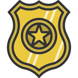 Security Police Badge Shield Signs Icon