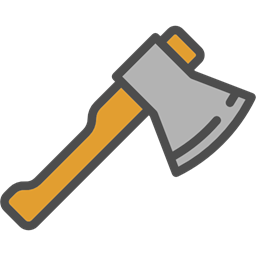 Construction Axe Ax Carpentry Carpenter Wood Cutting Tools And Utensils Icon
