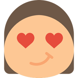 in love, Emoticon, Face, rounded, square, smile, smiling