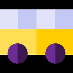 Front View Transport Bus Public Transport Transportation School Bus Icon