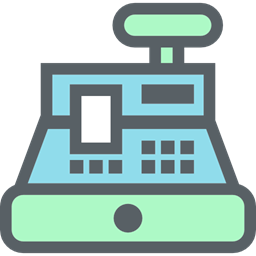 Shopping Store Cash Register Payment Purchase Commerce Buy Icon
