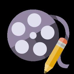 Film Reel Pencil Icon