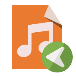 File Type Left Audio Icon