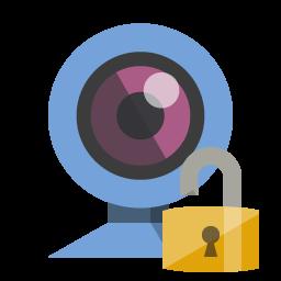 Webcam Open Lock Icon