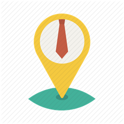 necktie pin location business office map tie icon
