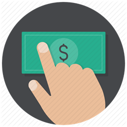 Hand Money Payment Buy Pay Dollar Cash Icon