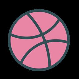 Basketball Game Dribbble Brand Sport Icon