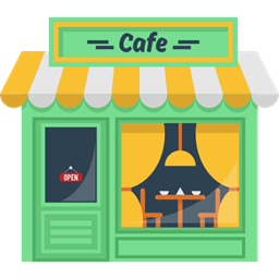 Hot Drink Building Coffee Shop Buildings Coffee Machine Cafe Icon