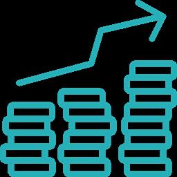 Business Work Money Analysis Seo Finance Growth Icon