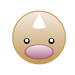 Monster Diglett Go Pokemon Cute Icon