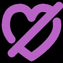 Heart Disabled Feelings Appreciate Love Like Icon