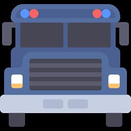Automobile Prison Bus Security Transportation Vehicle Transport Icon
