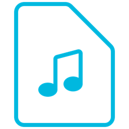 Music Icon Mp3 File Sound Music Audio Document Icon