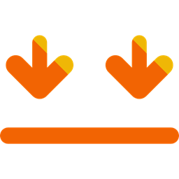 Arrows Signs Side Down Shipping And Delivery Icon