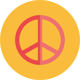Hippie Peace Symbol Shapes And Symbols Cultures Icon